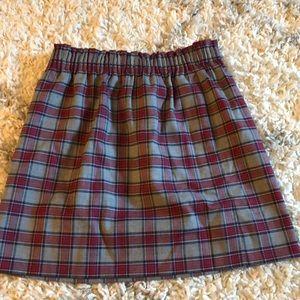 Patterned J.Crew Factory Skirt